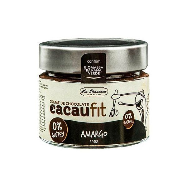 Creme De Chocolate Cacaufit Amargo La Pianezza Zero Açúcar 160g