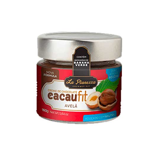 Creme De Chocolate Com Avelã Cacaufit La Pianezza Zero Açúcar 160g