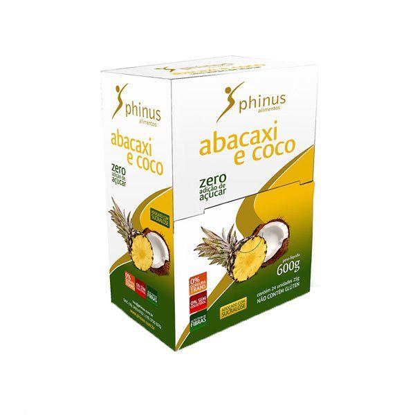 Doce De Abacaxi C/coco Phinus C/24 Unidades