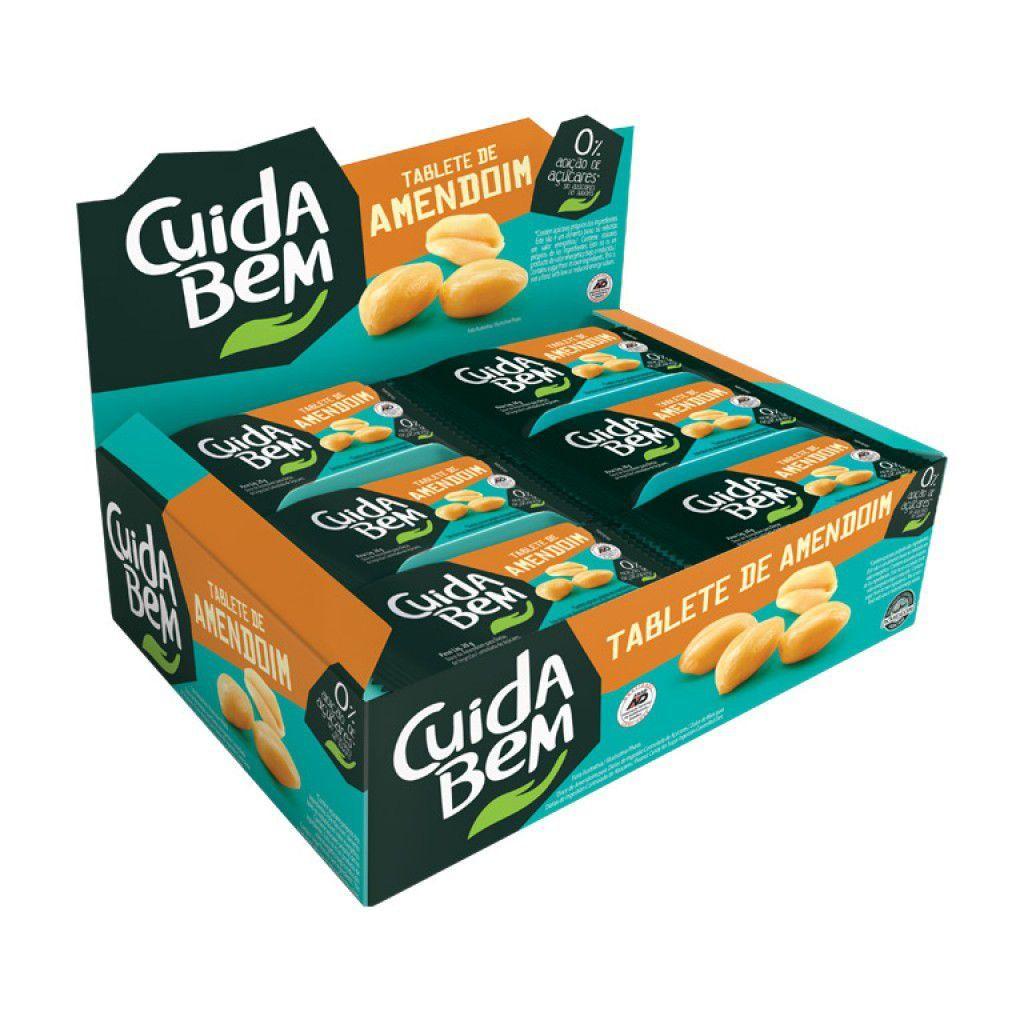 Doce De Amendoim Cuida Bem Zero Açúcar Contendo 24 Unidades