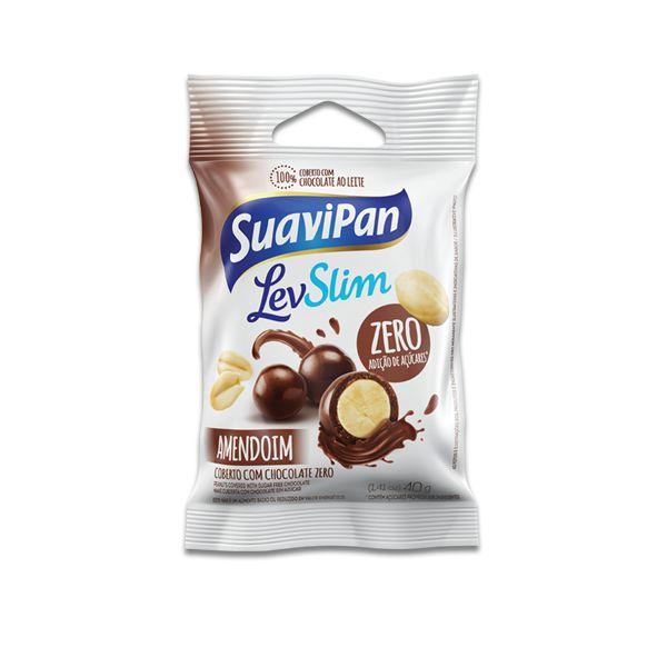 Drageados Zero Açúcar Amendoim coberto com Chocolate Suavipan Unidade de 40g
