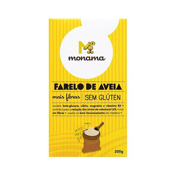 Farelo De Aveia Zero Glúten Monama 200g