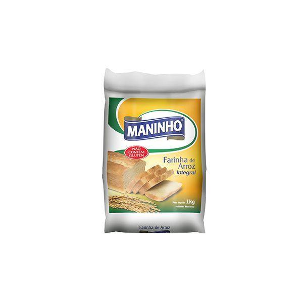 Farinha de Arroz Integral Maninho 1kg