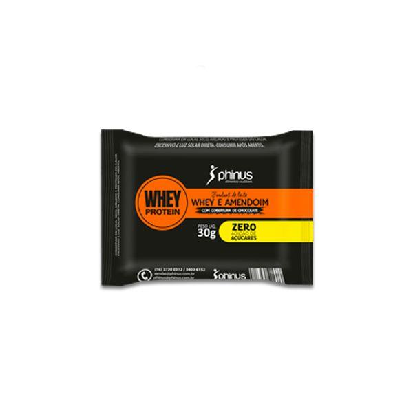 Fondant de Leite com Whey Protein de Chocolate e Amendoim Phinus Unidade de 30g