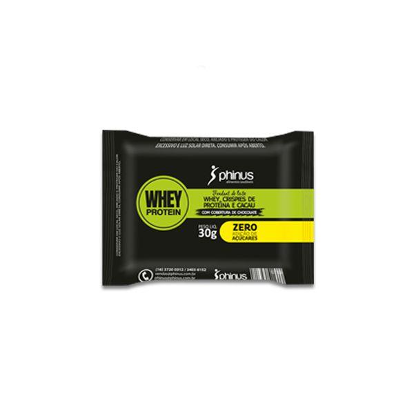 Fondant de Leite com Whey Protein de Crispies com Cacau e Chocolate Phinus Unidade de 30g