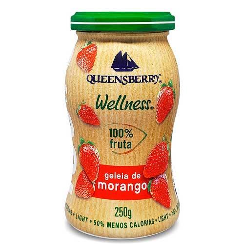 Geleia Wellness Morango 100% Fruta Queensberry 250g