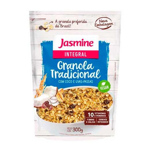 Granola Integral com Coco e Uvas-Passas Vegan Jasmine 300g