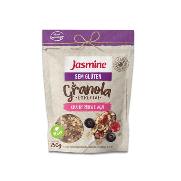 Granola Jasmine Sem Glúten Cranberries E Açaí 250g