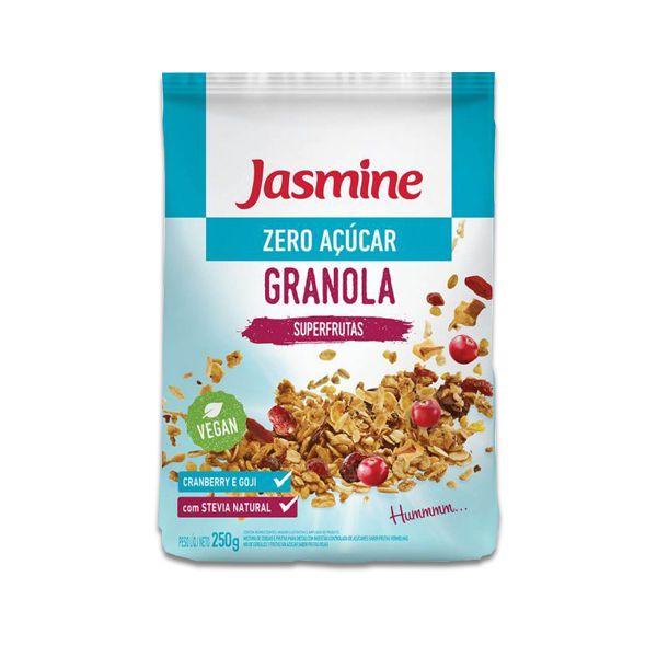 Granola Zero Açúcar Jasmine Vegan Superfrutas Cranberry e Goji 250g