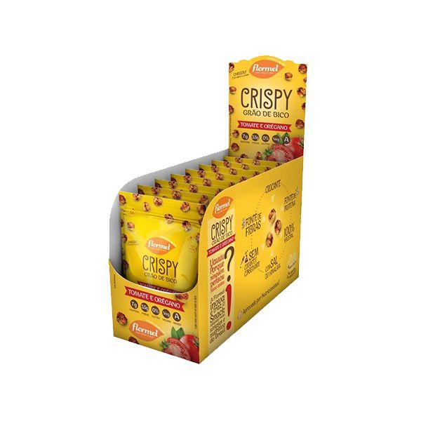 Grão De Bico Crispy Flormel Com Tomate E Orégano Contendo 8 Pacotes De 30g Cada