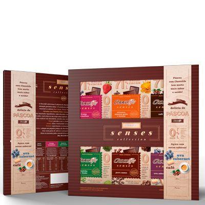 Kit Chocolate Senses Collection Chocolife Zero Açúcar Contendo 6 Tabletes De 25g Cada