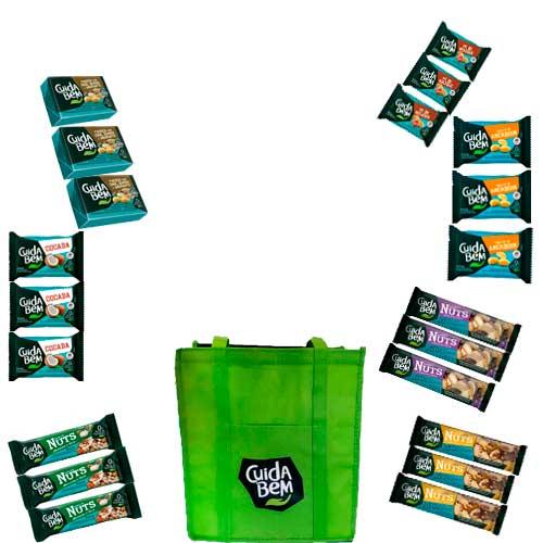 Kit Produtos Cuida Bem contendo 21 itens e 1 bolsa térmica