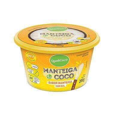 Manteiga de Coco COM Sal, sabor Manteiga, Vegana, Sem Lactose QualiCôco 200g