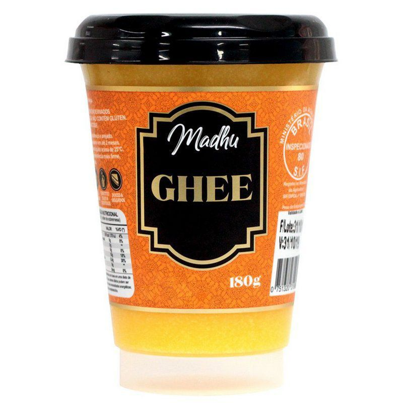 Manteiga Ghee Zero Lactose Madhu 180g