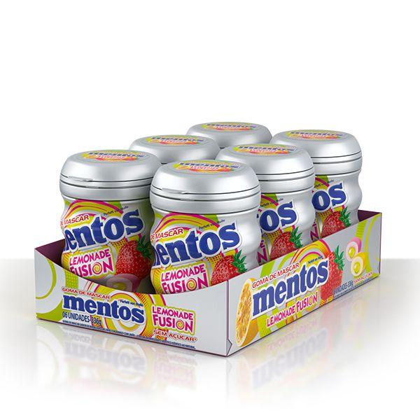 Mentos Pote Lemonade Fusion Contendo 6 Frascos Com 28 Unidades Cada