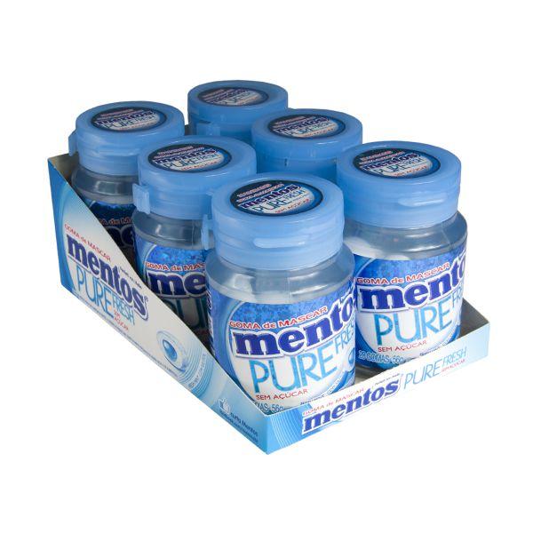 Mentos Pote Pure Fresh Mint Contendo 6 Frascos Com 28 Unidades Cada - GANHE 1UN FRUIT-TELLA