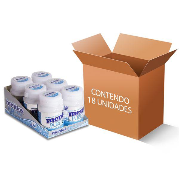 Mentos Pote Pure White contendo 18 unidades - GANHE 3UN FRUIT-TELLA