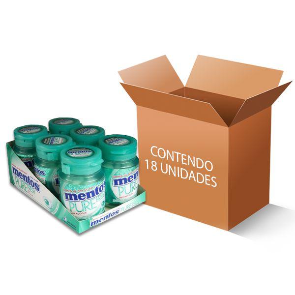 Mentos Pote Pure Fresh Wintergreen contendo 18 unidades - GANHE 3UN FRUIT-TELLA