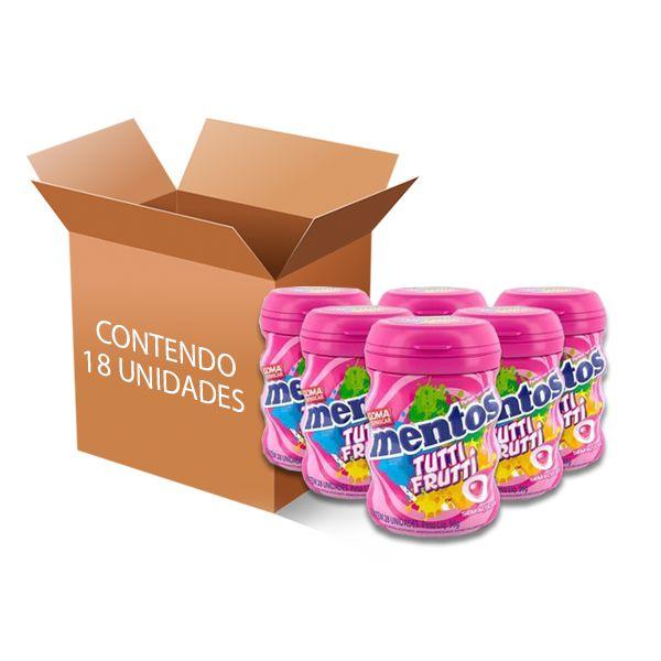 Mentos Pote Tutti Frutti contendo 18 unidades - GANHE 3UN MENTOS 3 CAMADAS!!!