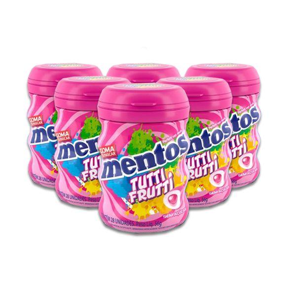 Mentos Pote Zero Açúcar Tutti Frutti contendo 6 frascos - GANHE 1UN FRUIT-TELLA