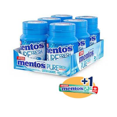 Mentos Pote Pure Fresh Mint Contendo 6 Frascos Com 28 Unidades Cada - GANHE 1UN PURE FRESH