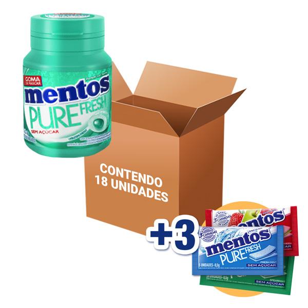 Mentos Pote Pure Fresh Wintergreen contendo 18 unidades - GANHE 3UN MENTOS 3 CAMADAS!!!
