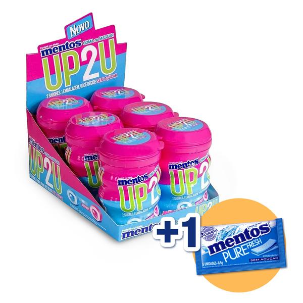 Mentos Pote Pure Fruit Up2u Menta E Tutti-frutti Contendo 6 Frascos Com 28 Unidades Cada - GANHE 1UN MENTOS 3 CAMADAS!!!