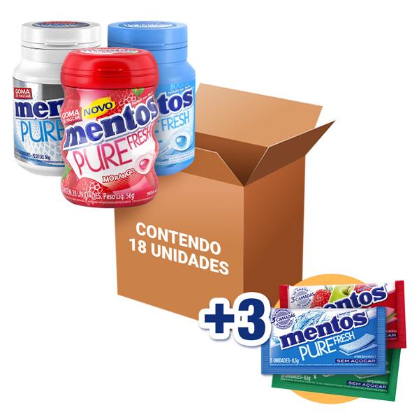 Mentos Pote Sortido contendo 18 unidades - GANHE 3UN MENTOS 3 CAMADAS!!!