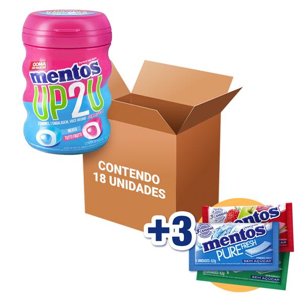 Mentos Pote UP2U contendo 18 unidades - GANHE 3UN MENTOS 3 CAMADAS!!!