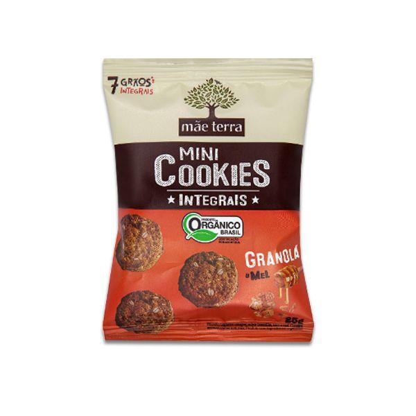Mini Cookies Integrais E Orgânicos Granola E Mel Mãe Terra 25g