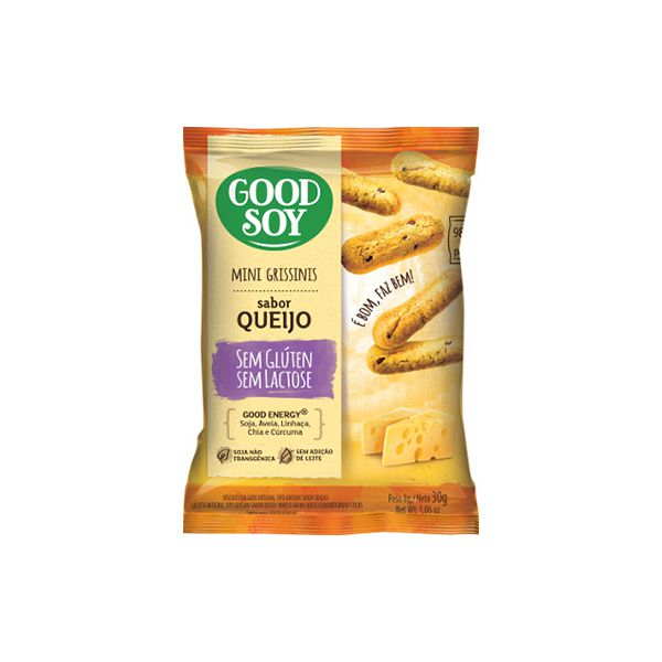 Mini Grissinis Good Soy Sem Glúten Queijo 30g