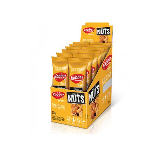 Mix de Nuts Classic Tradicional Kobber contendo 12 barras