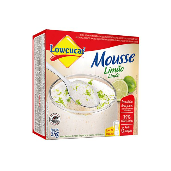 Mousse Zero Açúcar Limão Lowçucar 25g
