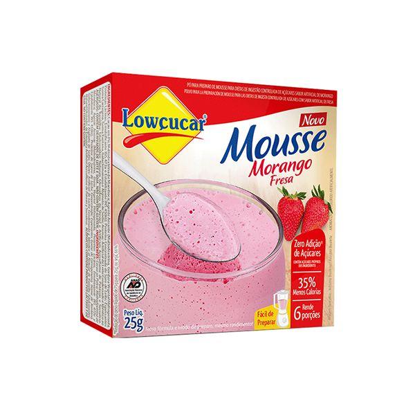 Mousse Zero Açúcar Morango Lowçucar 25g