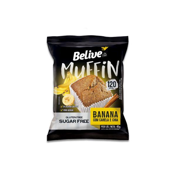 Muffin Belive Be Free Banana + Canela + Chia 40g