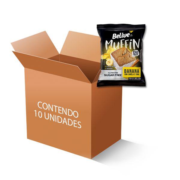 Muffin Belive Be Free Banana + Canela + Chia Contendo 10 Unidades De 40g Cada