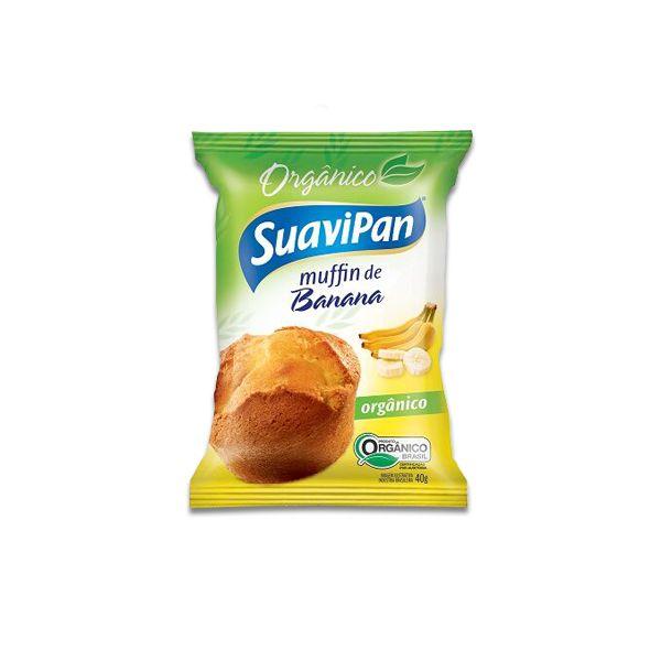 Muffin De Banana Orgânico Suavipan Unidade de 40g