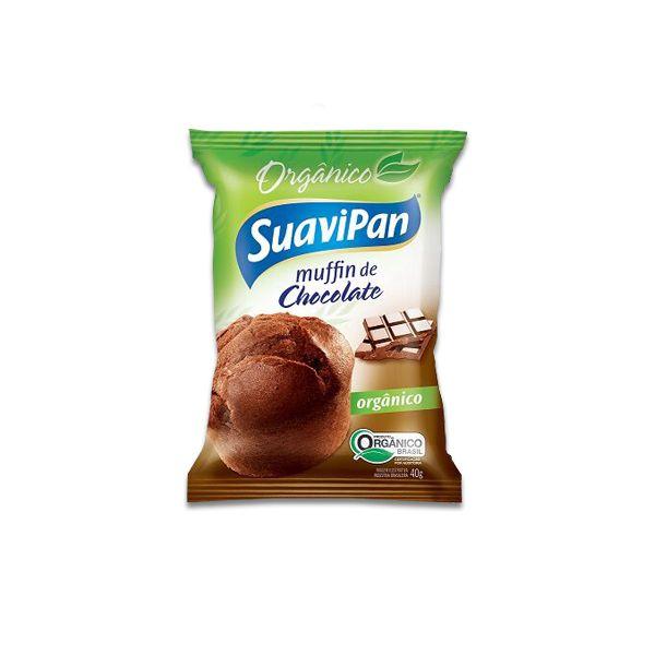 Muffin De Chocolate Orgânico Suavipan Unidade de 40g