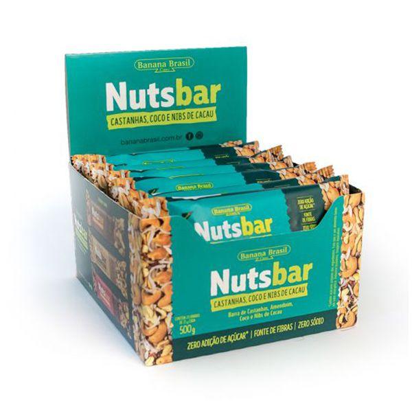 Nuts Bar Castanhas, Coco E Nibs De Cacau Zero Açúcar Contendo 12 Unidades De 25g Cada