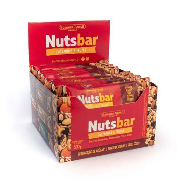 Nuts Bar Castanhas E Frutas Zero Açúcar Contendo 12 Unidades De 25g Cada