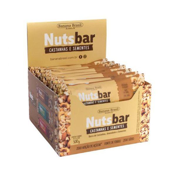 Nuts Bar Castanhas e Sementes Zero Açúcar 12 Un De 25g Cada