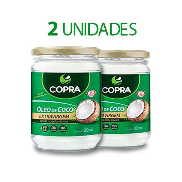 2x Óleo De Coco Copra 500ml cada Extravirgem