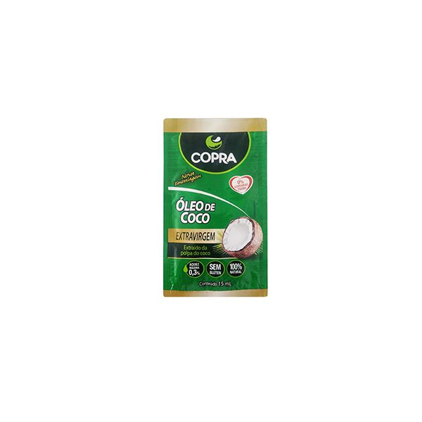 Óleo De Coco Pouch Extravirgem 15ml Copra