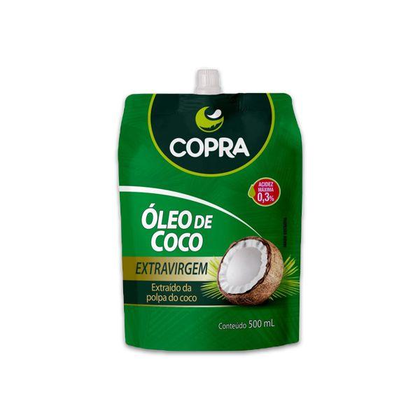Óleo de Coco 500ml Copra Pouch Extravirgem