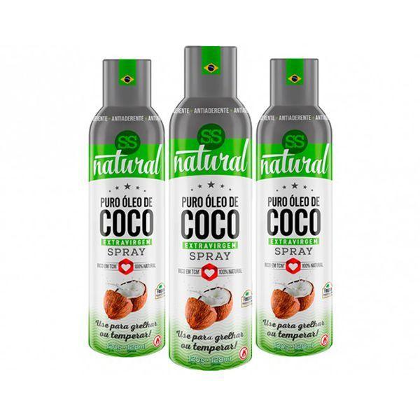 Óleo De Coco 3 Unidade de Spray Extravirgem Ss Natural