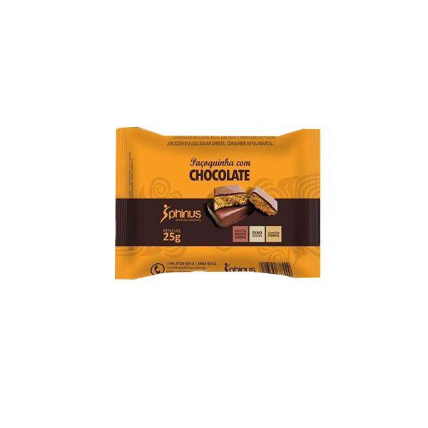 Paçoca Com Chocolate Zero Açúcar, Zero Glúten Phinus Unidade