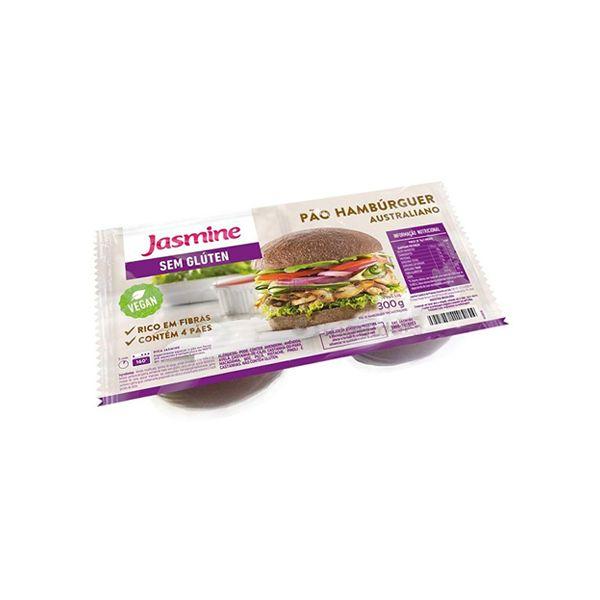Pão de Hamburguer Sem Glúten Australiano Jasmine contendo 4 unidades