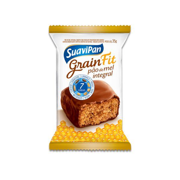 Pão de Mel Integral 7 cereais Fit Suavipan Unidade de 35g