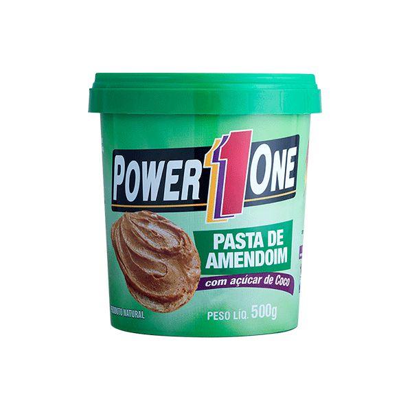 Pasta De Amendoim Com Açúcar De Coco Power One 500g