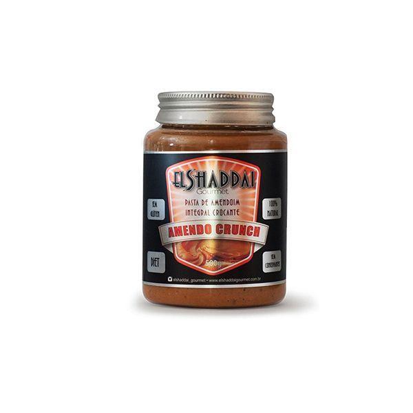 Pasta De Amendoim Com Alfarroba E Açúcar Mascavo Amendo Crunch El Shaddai 250g